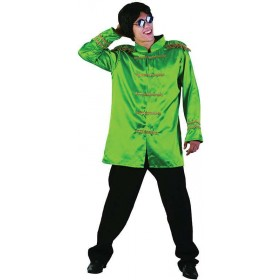 Sgt Pepper Jacket Budget. Green Fancy Dress Costume