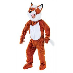 Mr Fox Big Head Fancy Dress Costume