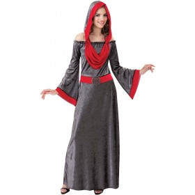 Ladies Grey (Deathly Woman) Fancy Dress Costume