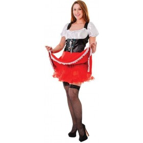 Underskirt For . Red (Halloween , Fairy Tales Fancy Dress)