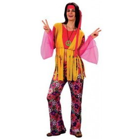 Hippy Woman Budget Fancy Dress Costume