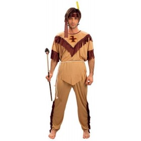 Native American Man Budget Fancy Dress Costume