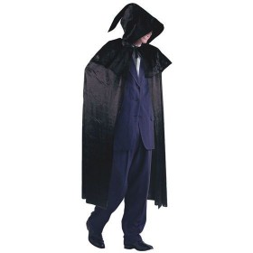 Black Velvet Cloak & Hood (Halloween Fancy Dress)
