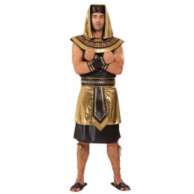 Mens Golden Egyptian Pharaoh King Fancy Dress Costume