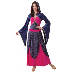Ladies Blue Fairy Tale Enchantress Fancy Dress Costume