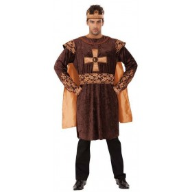 Mens Golden Medieval King Fancy Dress Costume