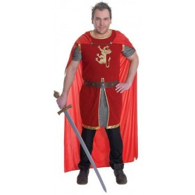 Mens Crusade Lion Heart Fancy Dress Costume