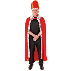 King'S Robe + Hat Fancy Dress Costume