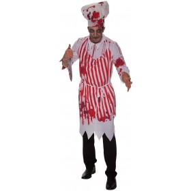 Mens Red And White (Butcher Bloody) Fancy Dress Costume