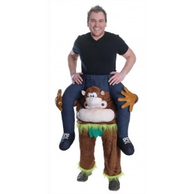 Adult Piggy Back Monkey Fancy Dress Costume