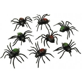 Scary Creatures. Spiders. (8/Pkt) (Halloween Decorations)