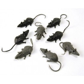 Scary Stuff Mice. (8/Pkt) (Halloween Decorations)