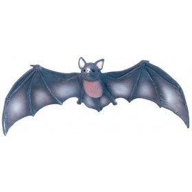 Bat. Black Large Rubber (Halloween Decorations)