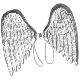 Angel Wings.Large, Silver Plastic (Christmas Disguises)
