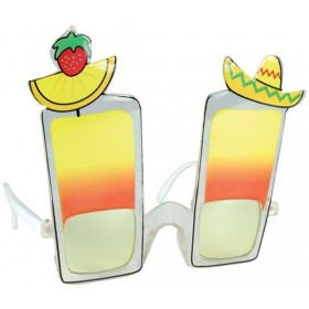 Cocktail Glasses (Long Island) (Hawaiian , Food Fancy Dress Glasses)