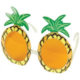 Pineapple Glasses (Hawaiian , Food Fancy Dress Glasses)