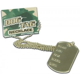 Dog Tag Necklace (Army Fancy Dress Jewellery)