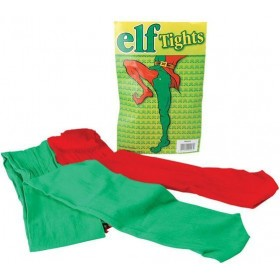 Elf Tights. Green/Red (Christmas Tights)