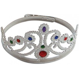 Crown.Queen'S. Silver (Medieval , Royalty Fancy Dress Hats)