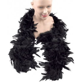 Feather Boa. Black (1920S , Burlesque Fancy Dress Feather Boas)