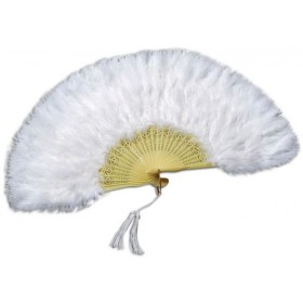 Feather Fan White (1920S , Burlesque Fancy Dress Feather Boas)