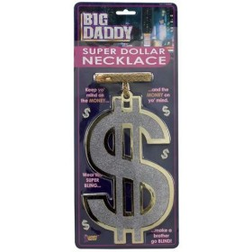 Big Daddy Super $ Necklace (Pimp , 1970S Fancy Dress Jewellery)