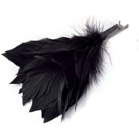 Feather Hair Clip. Black (1920S , Burlesque Fancy Dress)