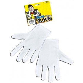Gloves. White Magicians (Clowns , Halloween Gloves)