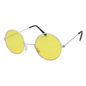 60'S Hippy Lennon Glasses. Yellow