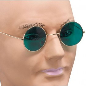 John Lennon Glasses. Green Lens (1960S , 1970S Fancy Dress Glasses)