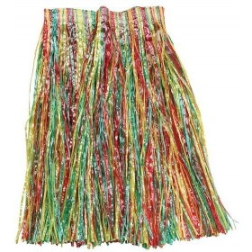 Grass Skirt. Multi Adult Budget (Hawaiian Fancy Dress)
