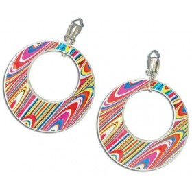 Mod Swirl Ear Rings (1960S , 1970S Fancy Dress Jewellery)