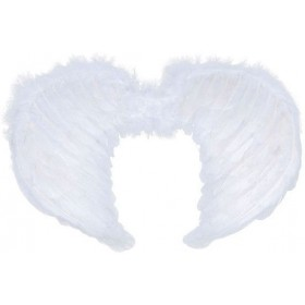 Mini White Feather Wings (Christmas , Halloween Fancy Dress)