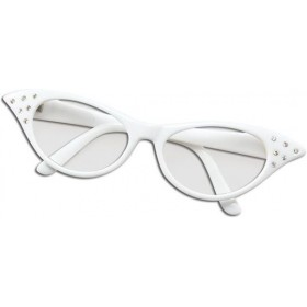 Glasses. 50'S Female Style White (1950S Fancy Dress Glasses)