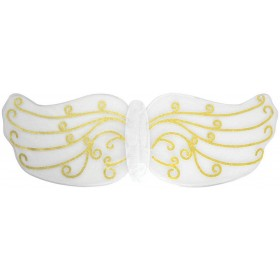 Adult Ladies White And Gold Angel Wings