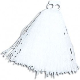Pom Poms. Small. White (School Fancy Dress)