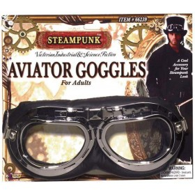 Adult Steampunk Aviator Goggles Fancy Dress Accessory