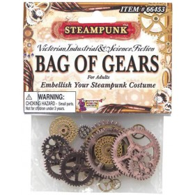 Steampunk Gear Accessorise Kit Fancy Dress Accessory