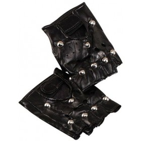 Studded Punk Gloves (1980S , Music Fancy Dress Jewellery)