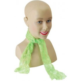 80'S Neon Lace Scarf. Green (1980S Fancy Dress)