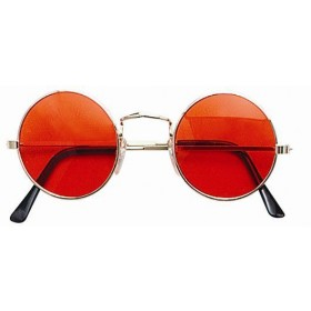 Lennon Glasses. Orange (1960S , 1970S Fancy Dress Glasses)