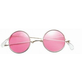 Lennon Glasses. Pink (1960S , 1970S Fancy Dress Glasses)