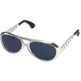 Elvis Sunglasses. Silver (Music , 1970S Fancy Dress Glasses)