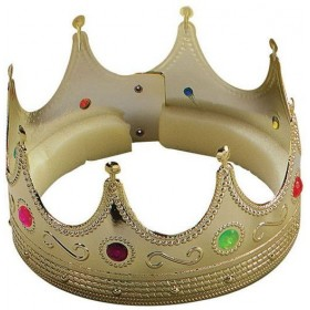 King Crown.Gold With Jewels. (Medieval , Royalty Fancy Dress Hats)