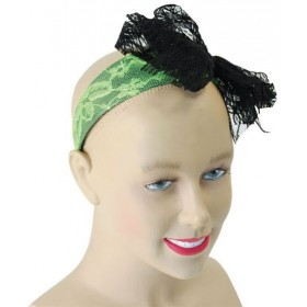 80'S Neon Lace Headband. Green (1980S Fancy Dress)