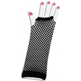 Gloves. Fishnet Fingerless Black (1980S Fancy Dress Gloves)