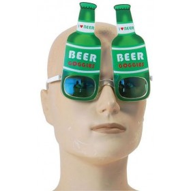 Beer Bottle Glasses (Hen & Stag Fancy Dress Glasses)
