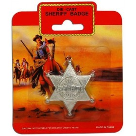 Sheriff Badge - Metal (Cowboys/Indians Fancy Dress Disguises)