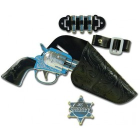 Cowboy Gun Set (Single) Childs (Cowboys/Indians Fancy Dress Guns)