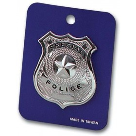 Police Badge - Metal (Cops/Robbers Fancy Dress)